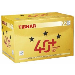 Tibhar   Wettkampfball 40 + SYNTT NG   72 Stück weiß