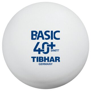 Tibhar   Trainingsball Basic SYNTT 40+ NG  (mit Naht)   72 Stück weiß