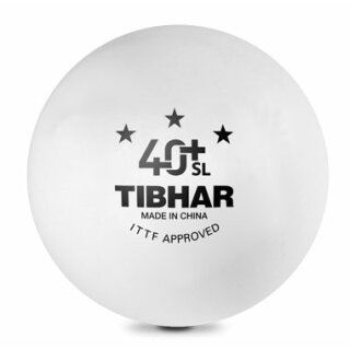 Tibhar | Wettkampfball 40 +SL | 72 Stück weiß