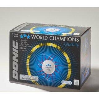 Donic | Wettkampfball Donic P40+ *** | 120 Stück weiß