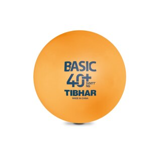 Tibhar | Trainingsball Basic SYNTT 40+ NG  (mit Naht) | 72 Stück orange