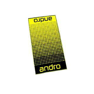 Andro | Handtuch Dots | schwarz/gelb