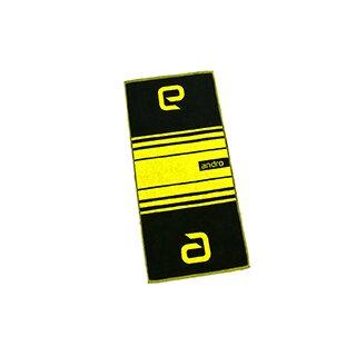 Andro | Handtuch Stripes | schwarz/gelb