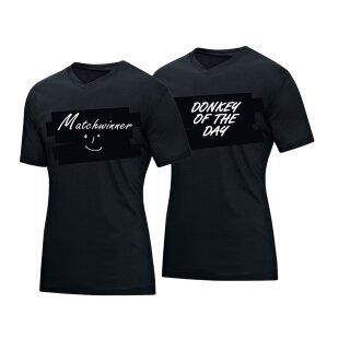 Spin und Speed   V-Neck Shirt Express yourself   schwarz