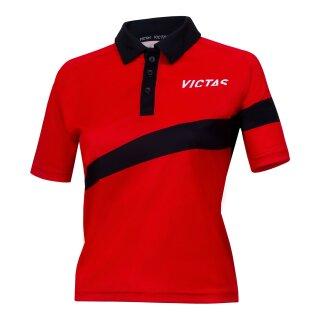 Victas | V-Ladyshirt 217 | rot/schwarz