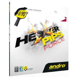 Andro | Hexer Pips Force schwarz 1,9mm