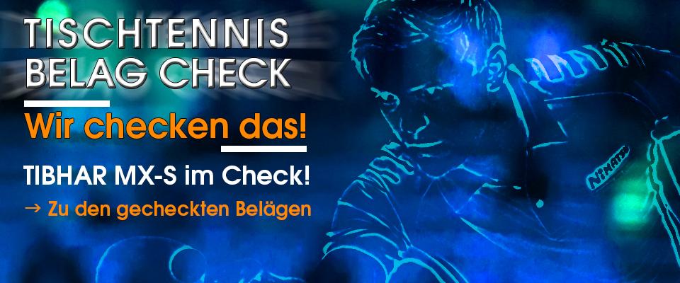 Tischtennis Beläge im Check